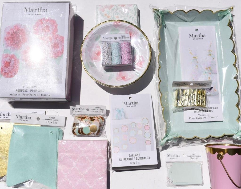 Martha Stewart Celebrations Mint and Blush
