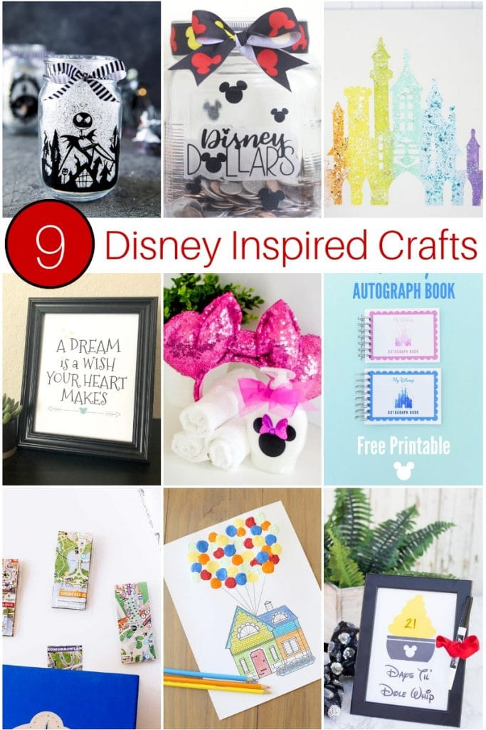 9 Disney Inspired Crafts Collage