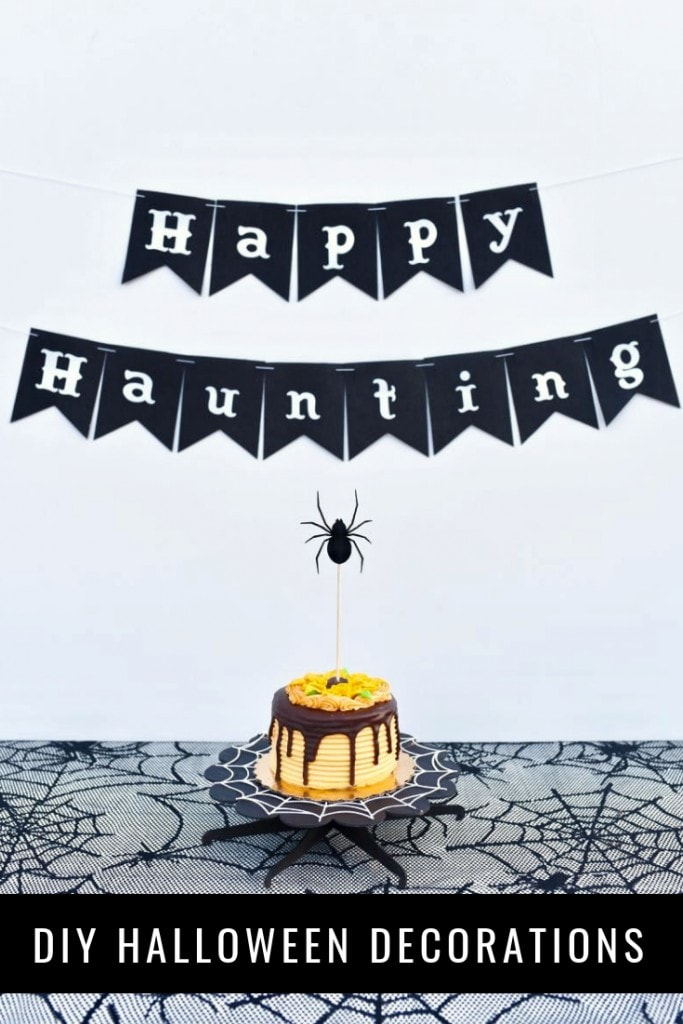 DIY Halloween decorations that are easy to make with a Cricut machine.