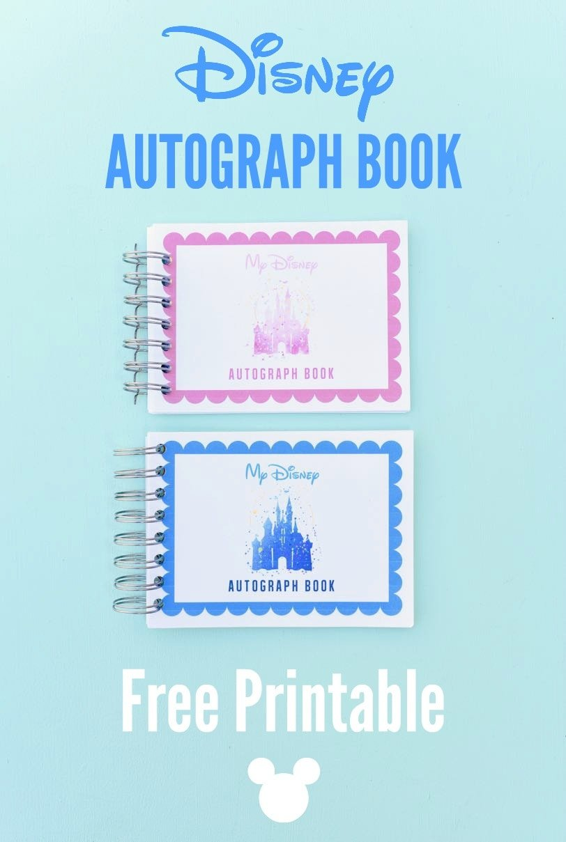 graphic relating to You're Going to Disneyland Printable identify Free of charge Printable Disney Autograph E book