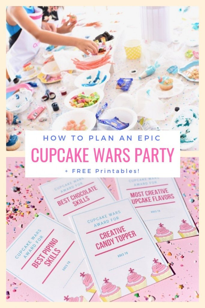 How to plan an epic Cupcake Wars birthday party + FREE printables! This fun birthday theme is perfect for tweens who love to bake and are big fans of the baking competition show Cupcake Wars.