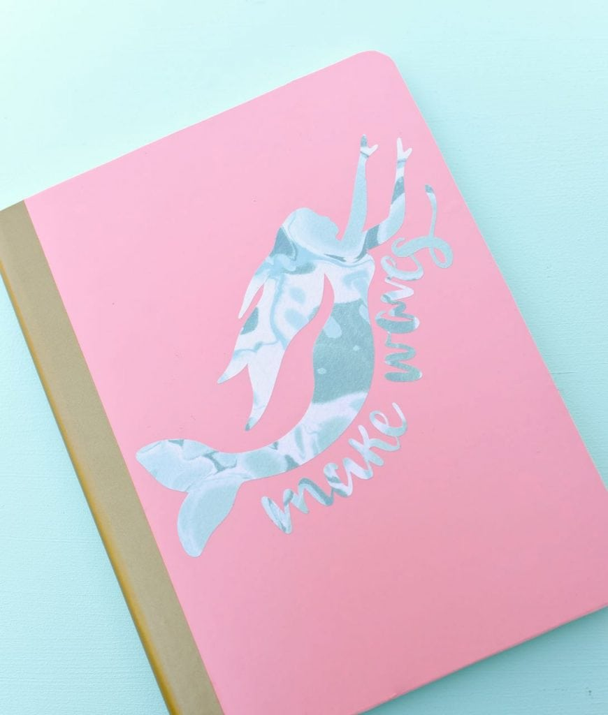 Mermaid DIY notebook cover