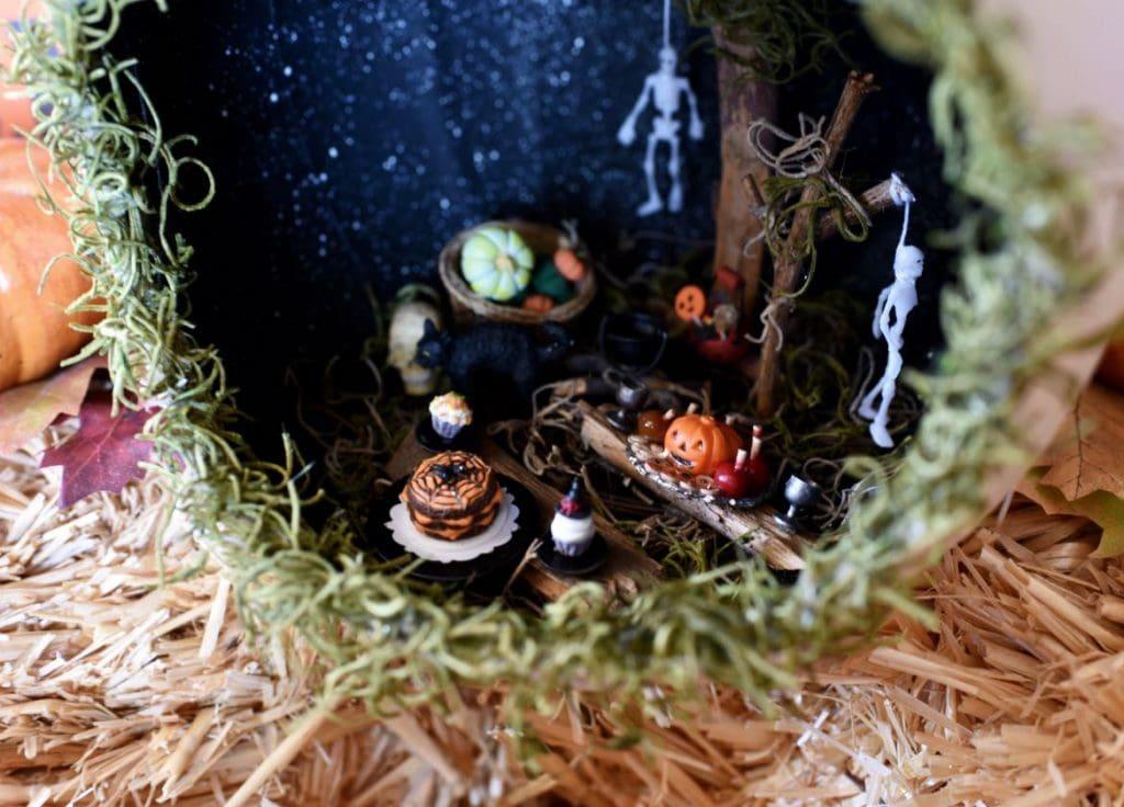 Pumpkin diorama quick Halloween craft