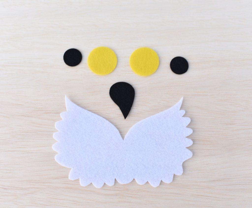 Baby Hedwig costume mask