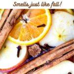 Fall potpourri with apples, oranges, cinnamon, and cloves