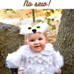 Baby in Hedwig owl costume for Halloween