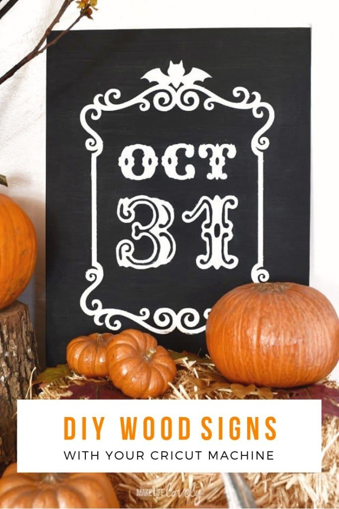 How to make EASY DIY wood signs with your Cricut machine!