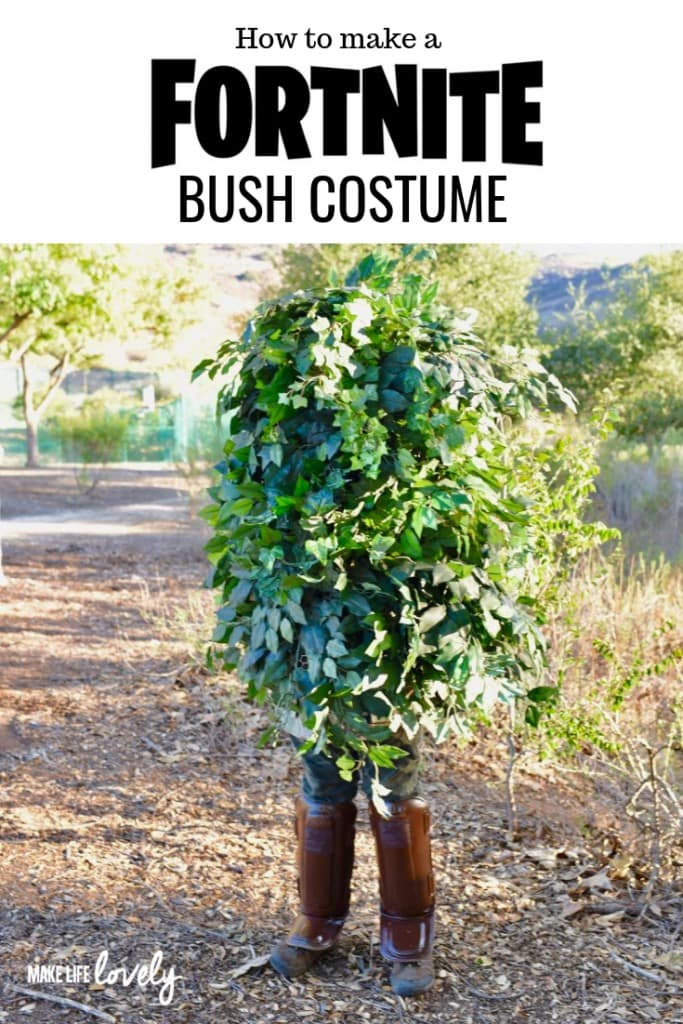 How to make an epic Fortnite bush costume yourself with just a few supplies! Be a Fortnite bush for a Halloween costume, cosplay, and more.