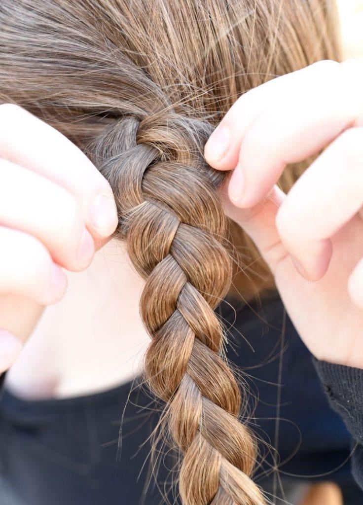 Braided half up half down hair tutorial