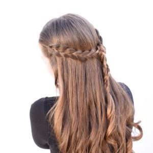 Pretty Braided Half Up Half Down Hair Tutorial