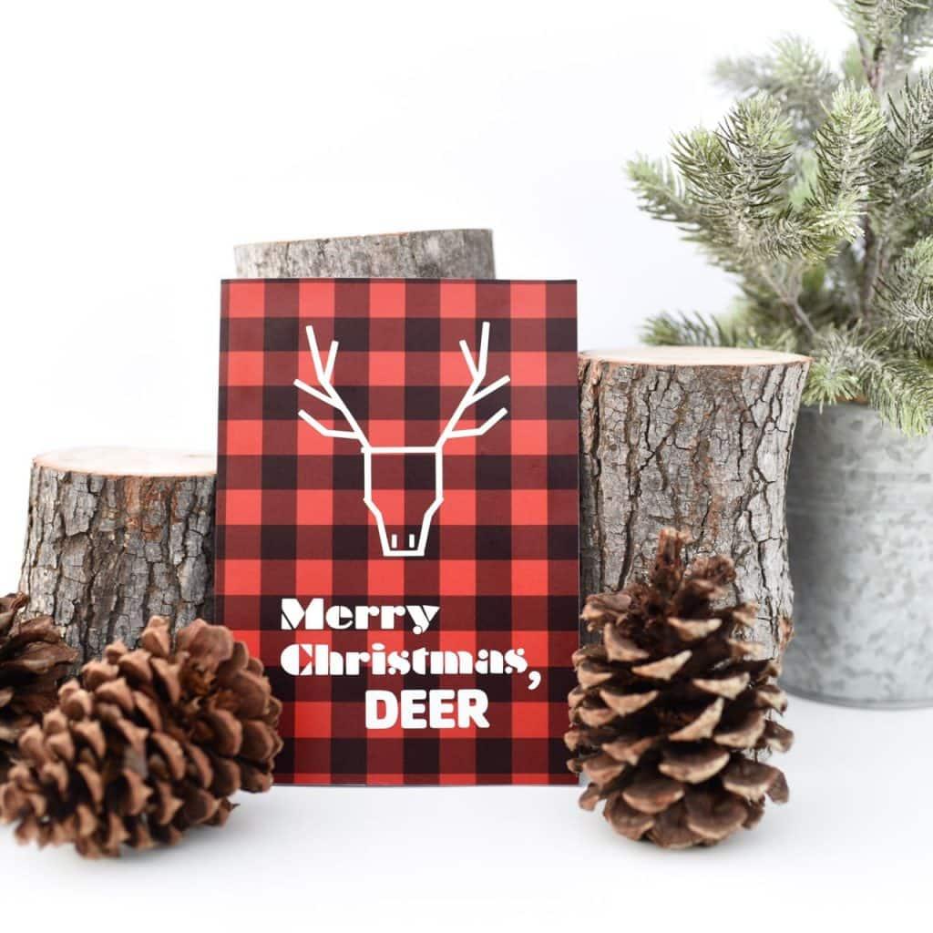 Buffalo plaid DIY Christmas cards