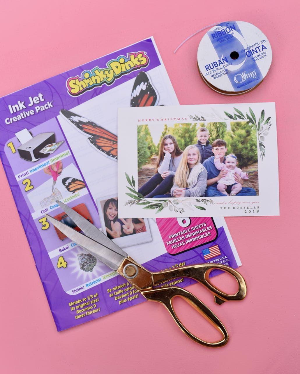 photograph about Shrinky Dinks Printable known as How in direction of Deliver Genius Do-it-yourself Photograph Ornaments towards Xmas Playing cards!