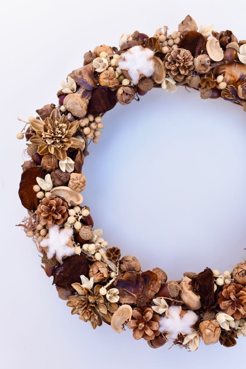 How To Make A Fall Wreath Natural And Beautiful