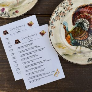 FREE printable Thanksgiving trivia game