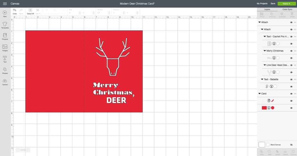Handmade Christmas card with Cricut