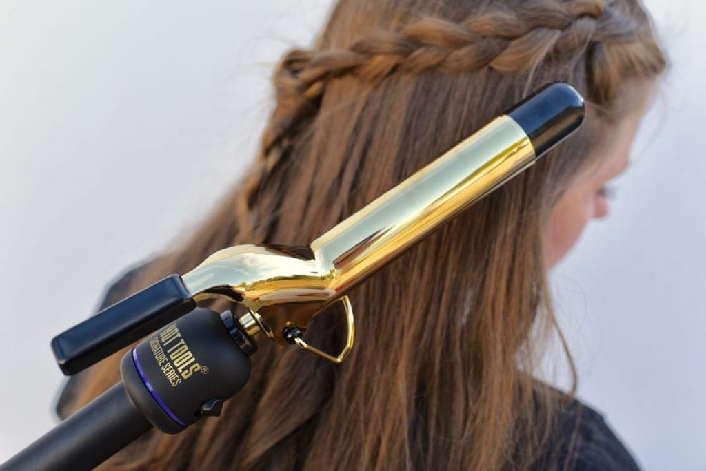 How to curl long hair with Hot Tools Signature Series curling iron
