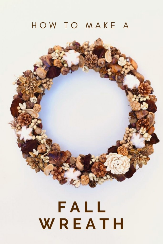 How to make a fall wreath in a few easy steps, perfect for fall decorating and for Thanksgiving.