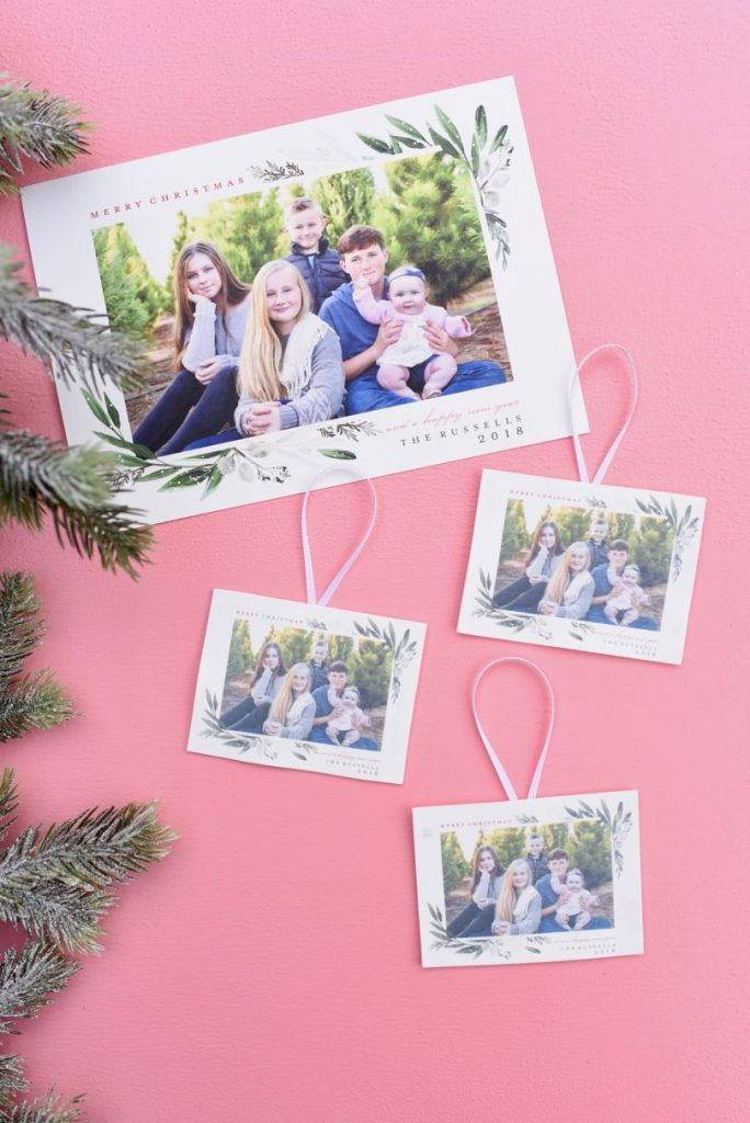 Make DIY photo ornaments out of your Christmas cards! Turn your Christmas cards into hard plastic photo ornaments with these simple steps in just a few minutes!