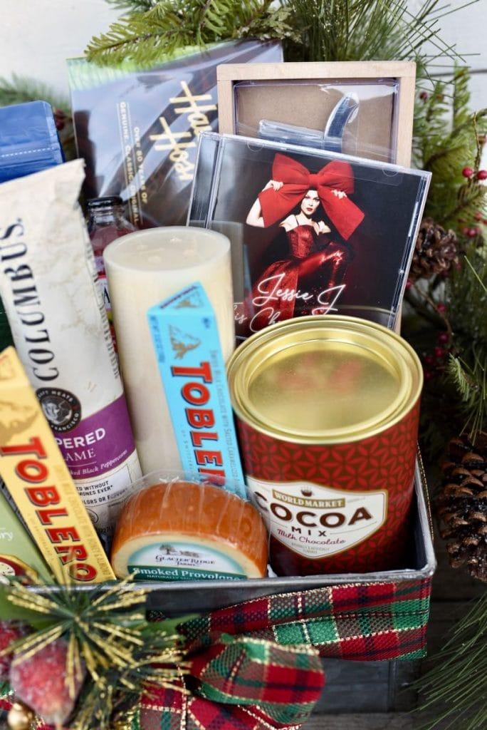 Music lover's gift basket