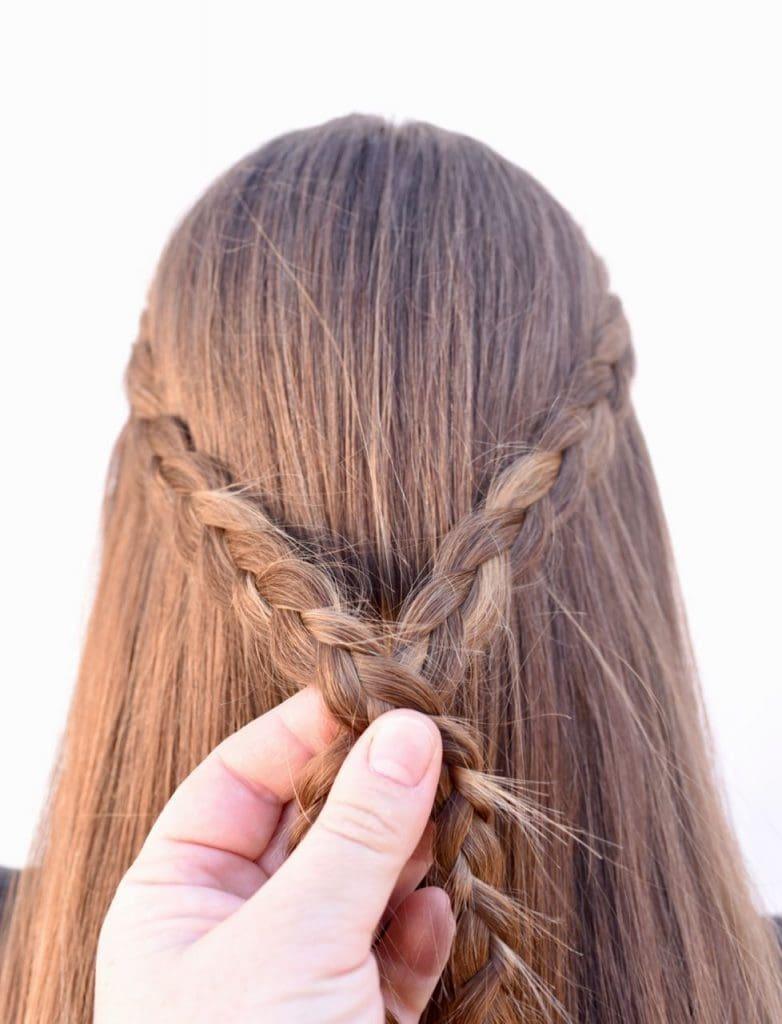 Simple braided half up half down tutorial