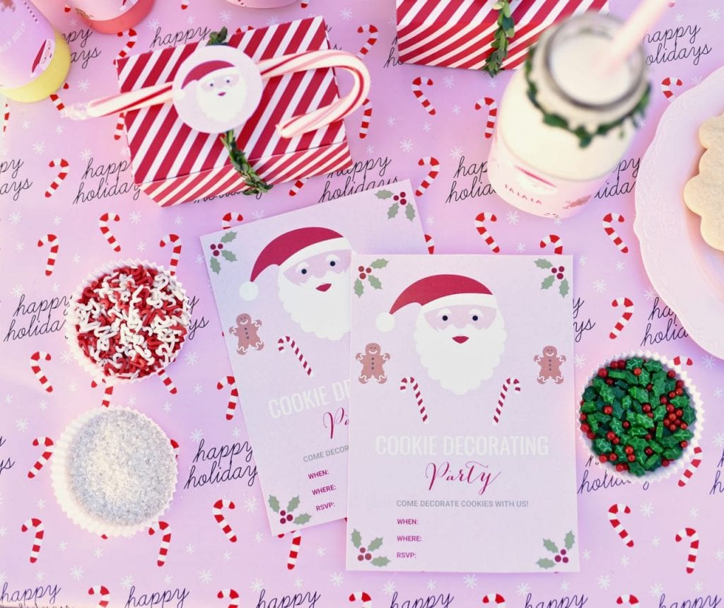 Christmas cookie party invitations f