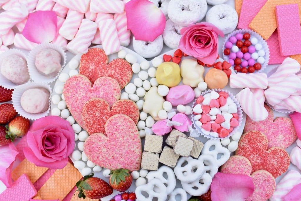 Dessert platter for Valentine's Day