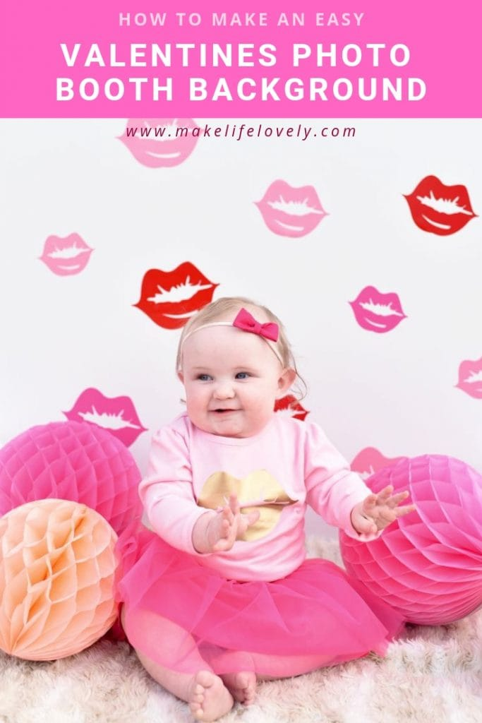 Valentines photo booth background DIY