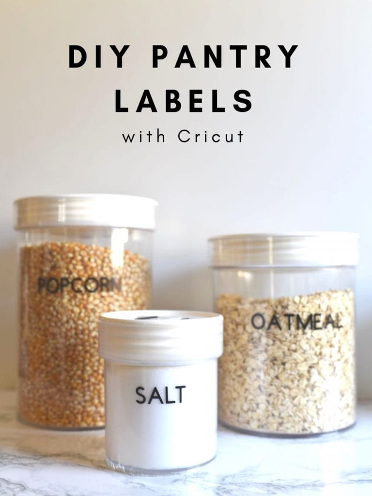 DIY pantry labels with Cricut + FREE cut file!