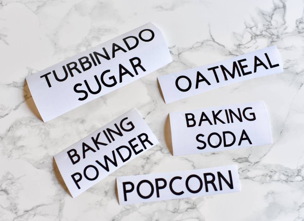 Get Organized with These Easy Pantry Labels