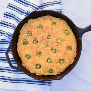 How to Make Jalapeno Cheddar Cornbread in a Skillet