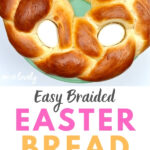 braided bread with Easter eggs inside