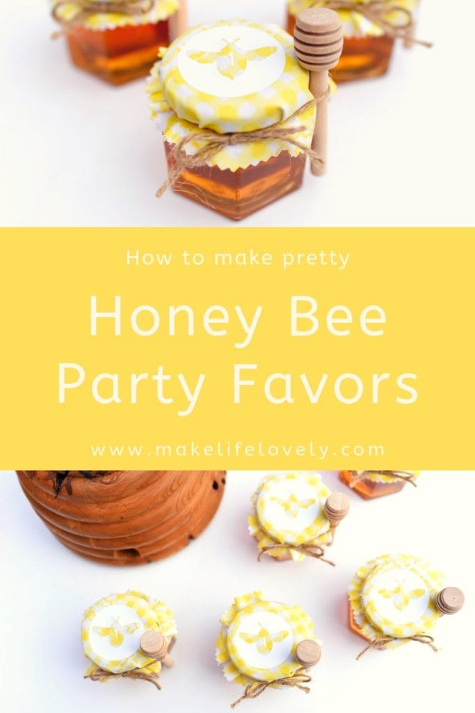How to make honey bee party favors in minutes! Make pretty personalized party favors with just a few supplies + this fun tutorial.