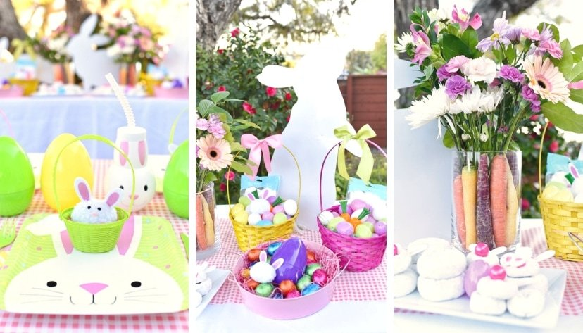 Outdoor Easter egg hunt party