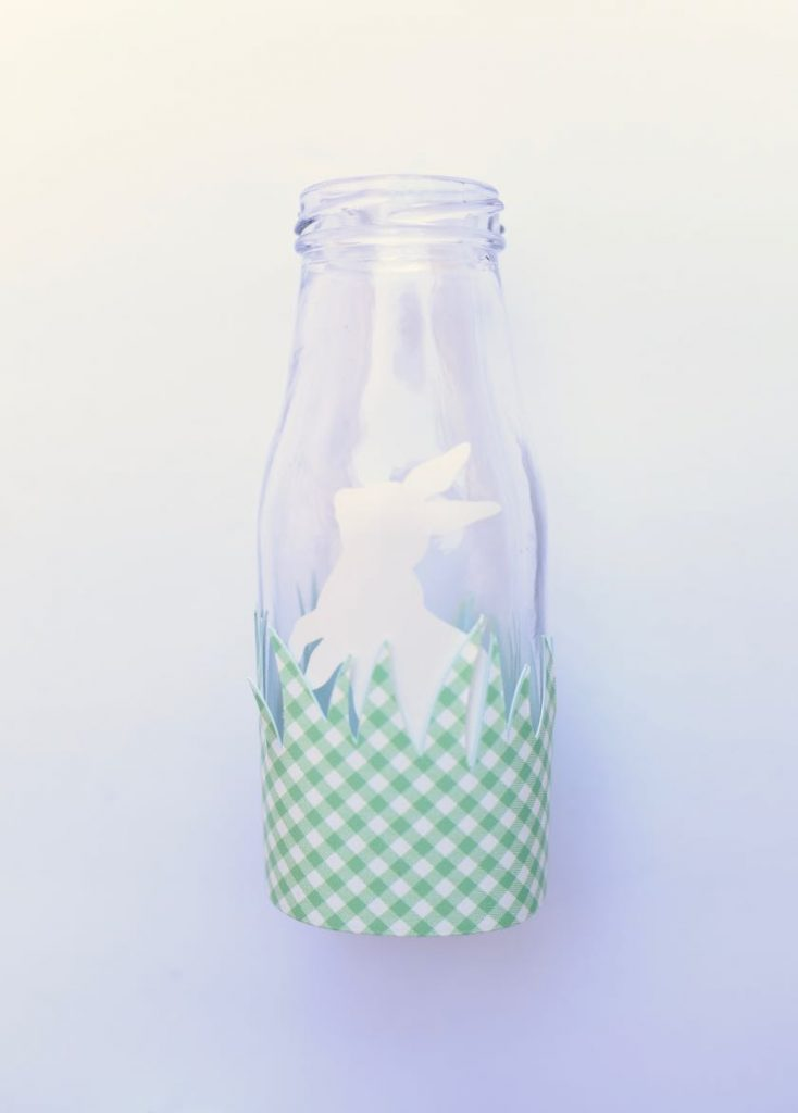 Easter milk glass bottles with Cricut