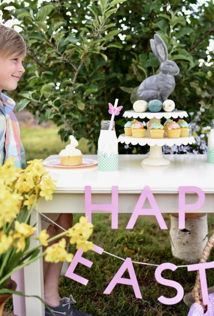 Easter table decor for kids
