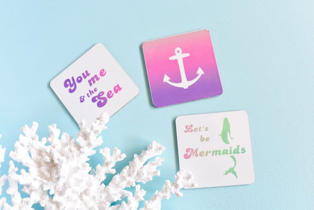 Infusible Ink coasters