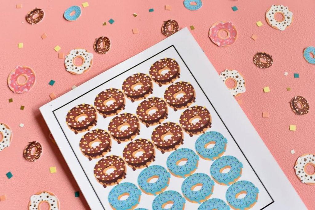 DIY donut confetti