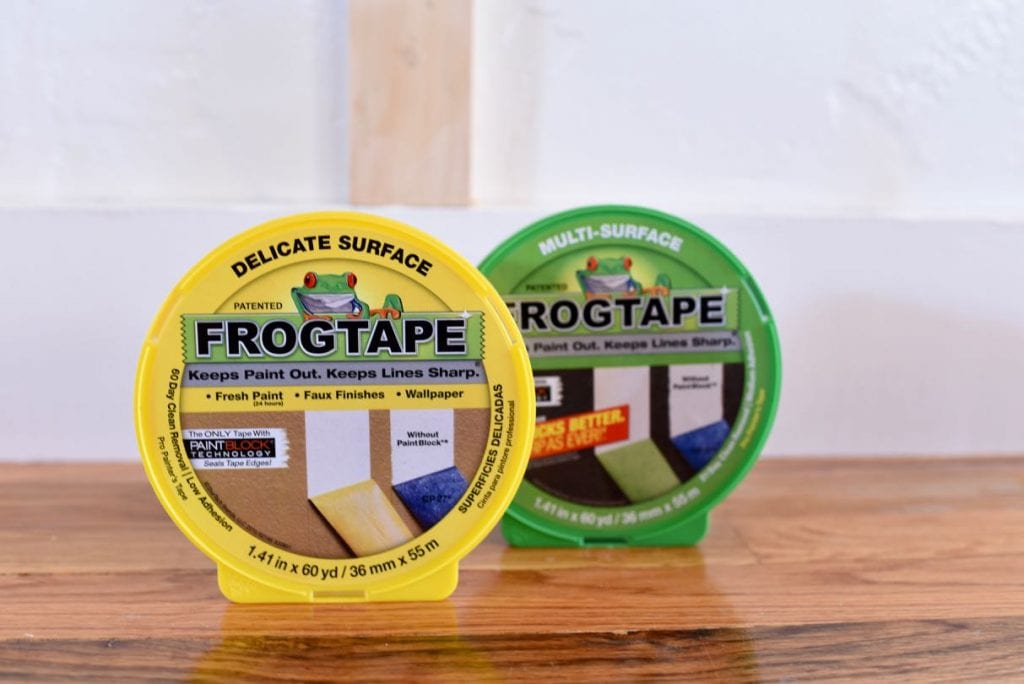FrogTape with board and batten wainscoting