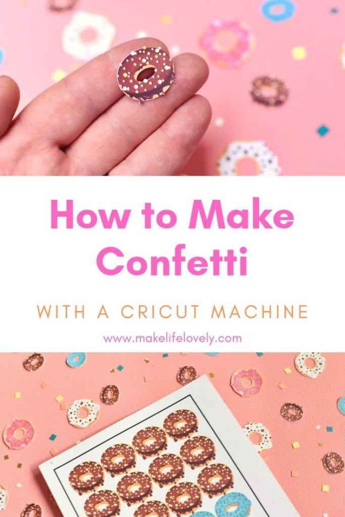 How to make confetti with a Cricut machine. Did you know you can make darling confetti for any occasion with your Ciruct machine? Learn how to make your own DIY confetti!