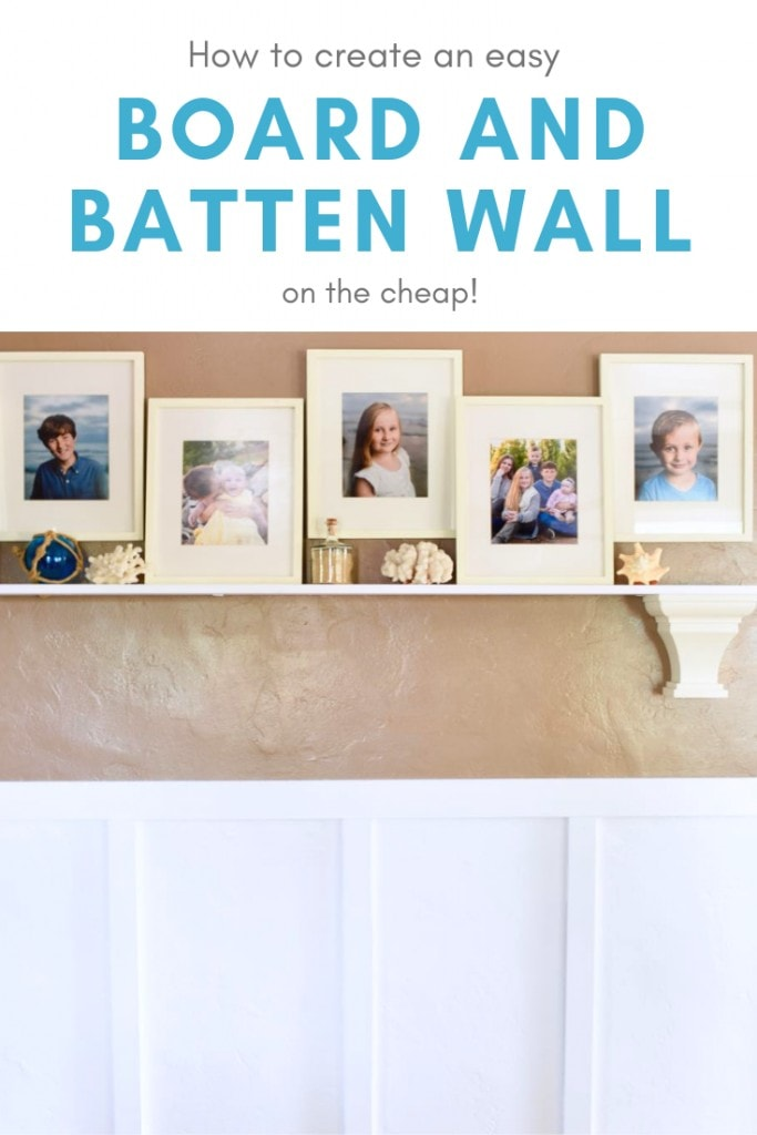 How to create an easy board and batten wall on the cheap! Add character to a room with board and batten wainscoting. It's simpler than you think!