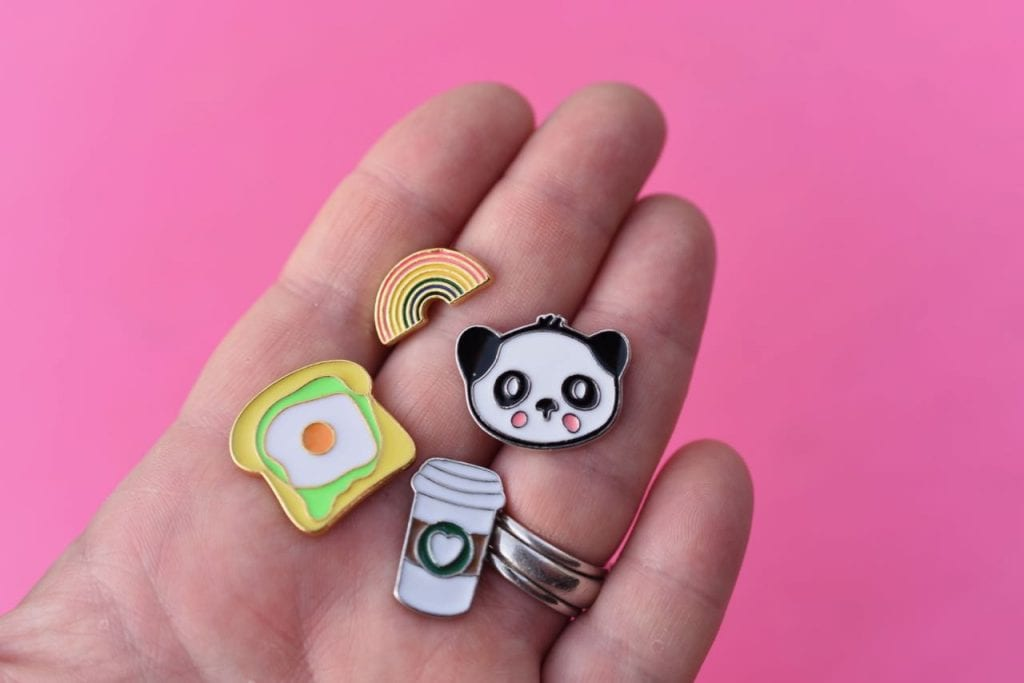 Cute school supplies enamel pins