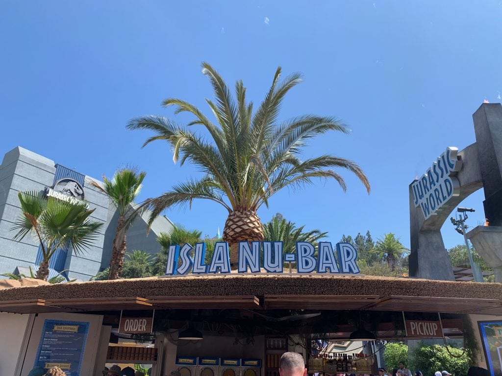 Isla Nu-Bar at Jurassic World ride 2019