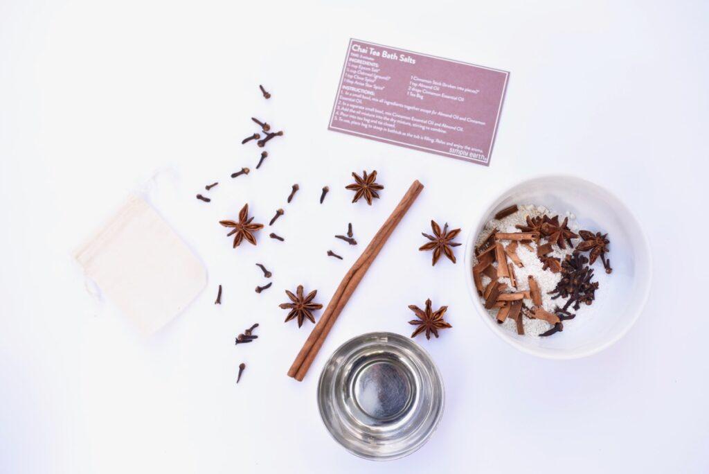 Chai tea homemade bath salts