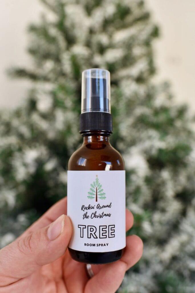 Christmas essential oil room spray