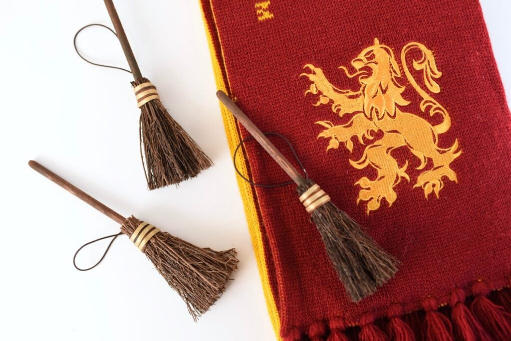 DIY Harry Potter broom Christmas ornament