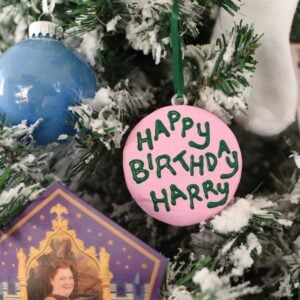 DIY Harry Potter cake Christmas ornament square