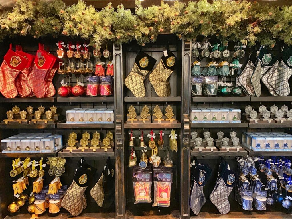 Harry Potter Christmas merchandise at Universal Studios Hollywood