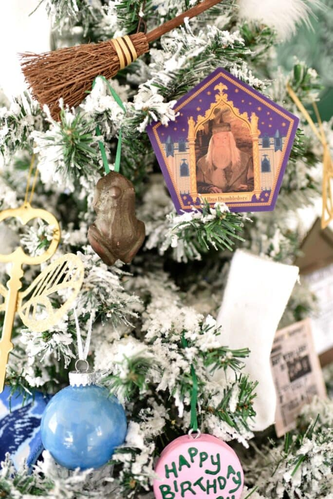 Harry Potter Christmas tree decorations chocolate frogs