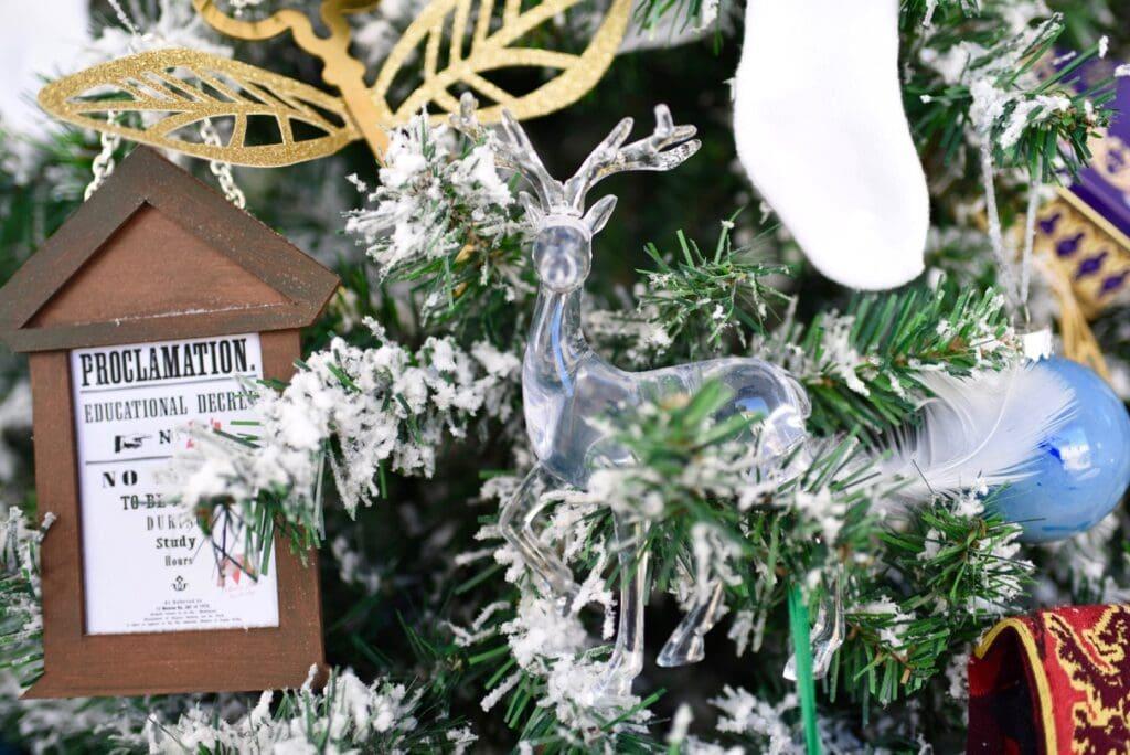 Harry Potter Christmas tree patronus ornament