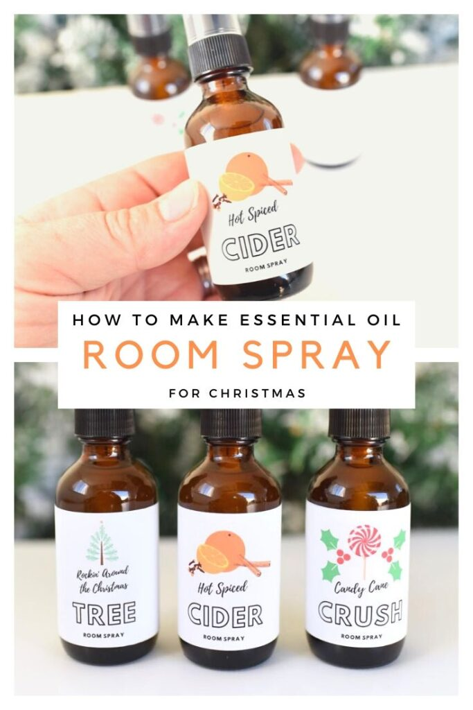 How to make essential oil room spray for Christmas